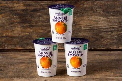 Thumb 400 wallaby organic whole milk yogurt peach 3 pack 6 oz